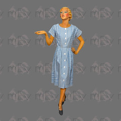 1950s Cotton Day Dress by Coquette (Rickenbackerglory.) Tags: vintage 1950s siegel mannequin cotton daydress coquette