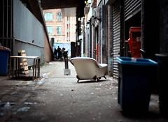 Bathtub Alley (joshdgeorge7) Tags: bath tub manchester manc alley alleyway streets street pentax mx ricoh imaging kodak 250d contrast processing film ishootfilm cheshire 85mm smc city northern quarter grime