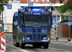 Riot control vehicle (Schwanzus_Longus) Tags: delmenhorst german germany modern vehicle truck lorry riot control law enforcement police polizei mercedes benz actros