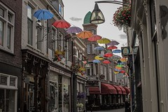 Umbrellas of Deventer (marlon.freiberger) Tags: bunt colorful shoppingstreet festival street streetart travel regenschirme umbrellasky umbrella einkaufspassage alleyways hansestadt overijssel streets city deventer netherlands