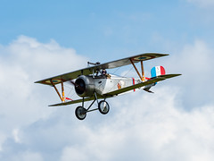 Nieuport 17 (davepickettphotographer) Tags: nieuport 17 n1977 gbwmj nieuport17 french firstworldwar oldwarden bedfordshire biggleswade uk england flight flying aviation scout sesquiplane fighter aircraft airbourne airshow airshows gustave delage lowerwing biplanefighteraircraft replicaaircraft replica