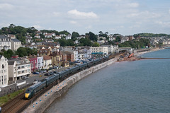 GWR Class 802 IET passing Dawlish (philwakely) Tags: diesel gwr fgw firstgreatwestern first greatwestern greatwesternrailway dieselmultipleunit dmu iep iet hitachi class800 class802 dawlish railway railways rail trains train