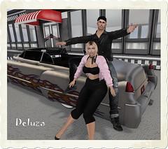 Grease (~Deluza Delhom~) Tags: grease secondlife virtual sexy cute deluza holmsie pink lady greaser caddilac vix car fun sl