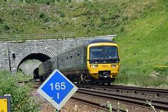 GWR Turbo Unit at Bincombe Tunnels (philwakely) Tags: diesel gwr fgw firstgreatwestern first greatwestern greatwesternrailway dieselmultipleunit dmu railway railways rail trains train