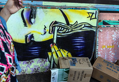 The Hands (klauslang99) Tags: klauslang streetphotography panels painting hands chinatown honolulu hawaii