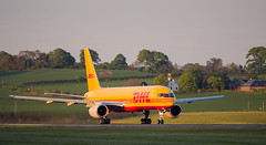 G-BRMI Boeing 757, Edinburgh (wwshack) Tags: aircargo airfreight b757 boeing boeing757 dhl edi egph edinburgh edinburghairport scotland turnhouse orange gbrmi