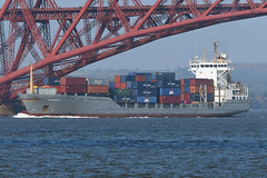 Maike D -- Port Edgar -- 22-04-19 (MarkP51) Tags: water sunshine boat nikon ship sunny vessel d500 nikon200500f56vr containership firthofforth southqueensferry portedgar maiked