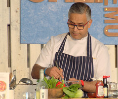 Celeb Chef Atul Kochhar at Warwick (Tony Worrall) Tags: pubinthepark fun event warwick midlands chef celeb show cook eat food foodie tomkerridge candid people atul atulkochhar asian stage demo cooking update place location uk england visit area attraction open stream tour country item greatbritain britain english british gb capture buy stock sell sale outside outdoors caught photo shoot shot picture captured ilobsterit instragra