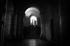 Holy stairs (Black&Light Streetphotographie) Tags: mono monochrome menschen menschenbilder leute lichtundschatten lightandshadows people personen portrait peoples urban tiefenschärfe wow dof depthoffield city closeup fullframe vollformat sony sonya7rii bw blackwhite