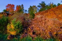 Lallenger Bierg (Robert GLOD (Bob)) Tags: autumn tree berg forest season landscape golden landscapes seasons hour luxembourg goldenhour kayl lalleng bierg lallinger lallengerbierg lallingerberg red rock redrock lu esch alzette terres eschsuralzette rouges terresrouges minett