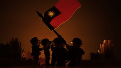 Flag Rising at Sunset (Force Movies Productions) Tags: war weapons wars world wwii eastern rifles rifle resistance rebellion rebel toy toys trooper troops youtube ii united minfig picture minifig film minifigure military officer photograpgh photo photograph pose photography animation army asian asia scene soldier stopmotion soldiers second sinojapanese firearms frame flag gun guns helmet helmets history kmt kuomintang lego legophotograghy legophotography custom cool conflict china chaing chinese communist bricks brickfilm brickarms brickizimo brickmania brick brodie nationalist nation movie minifigs moc macro