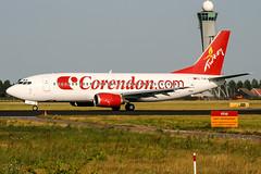 TC-TJA (PlanePixNase) Tags: amsterdam ams eham schiphol planespotting airport aircraft boeing 737300 b733 737 corendon