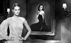 (horlo) Tags: wallpaper fonddécran glamour bw nb blackandwhite noiretblanc monochrome woman femme portrait vintage genetierney tonigarrn collage