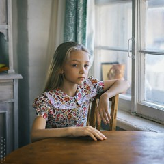 Taya. (matveev.photo) Tags: girl light sunlight young teenage teen table art matveev portrait face squareformat people hands child