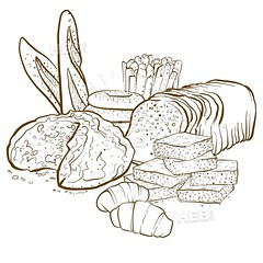 backery composition set of breads (Hebstreits) Tags: art background baguette bake baked baker bakery baking banner bread cake collection composition concept cooking croissant design drawing drawn element everyday food fresh freshly grain graphic hand healthy hop hops horizontal icon illustration illustrations isolated kitchen line loaf love meal object organic pastries pastry set shop sketch vector vintage wheat