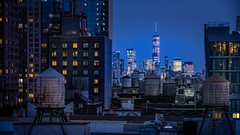 Blue Manhattan (Dave6163) Tags: newyork city buidlings bluehour night cityscape lights