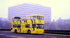 Slide 143-39 (Steve Guess) Tags: london england gb uk bp promotional open top topper topless bus bridge kjd104p leyland daimler fleetline dms friday