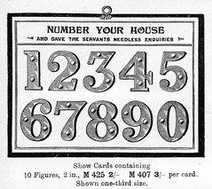 Give Your House a Number (growlerthecat) Tags: brassfoundry catalogue tradecatalogue signs notices mansell birmingham