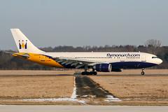 G-OJMR (PlanePixNase) Tags: aircraft airport planespotting haj eddv hannover langenhagen airbus 300 a300600 monarch cebit