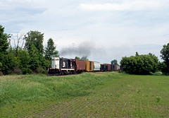 Through the Fields (Erie Limited) Tags: cmgn9210 centralmichigan emd gp8 gp7 frankenlust mi frankenlusttownship cmgn740 train railfan railroad