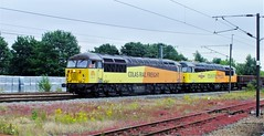 Colas 56049 and 56113 . (steven.barker57) Tags: colas class 56 classic 56049 robin templecombe 56113 railfreight wagons darlington uk north east england coast main loine diesel loco locomotive double head header headed