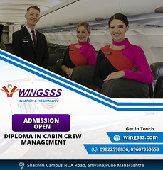 Diploma in Cabin Crew Management (Wingsss Aviation) Tags: cabin crew management ground staff services personality development course