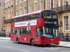 London Central, WHV173 [LF67EXG] - London, Russell Square (27/08/18) (David's NWTransport) Tags: londoncentral goahead lf67exg wrightgemini wrightbus volvob5lh volvohybrid volvo hybrid