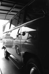 VW Noir (squirtiesdad) Tags: volkswagen vw bus squareback bug reflection shadows nikon fm epson v600 monochrome bw blackandwhite bn bwfp analog analogue arista iso100 35mm film