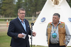 Premier Moe at the Meeting with Indigenous leaders / Le premier ministre Moe à la rencontre avec les dirigeants autochtones