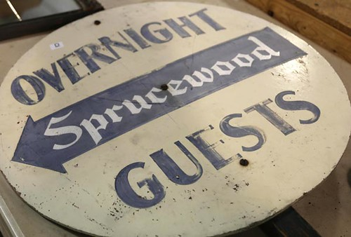 Overnight Sprucewood Guests Standing Sign ($44.80)