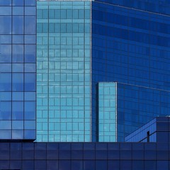 Glass Architectural Abstract (2n2907) Tags: abstract architecture reflection blue glass building skyscraper graphic geometric geometry pattern lines graphical design windows