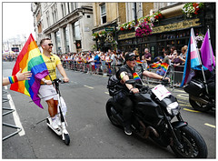 My other bike's a Harley (donbyatt) Tags: london trafalgarsquare londonpride2019 lgbt candid people parade event festival colour fashions