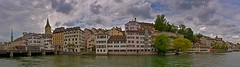 Zurich panorama (artavet) Tags: architecture attraction center central centre church city clouds copy culture custom day europe european fraumunster historic interest limmat limmatquai location mirror old outdoors panorama peter place reflection ripple river sankt shape site sky space st structures swiss switzer switzerland symmetry town townscape traditional urban waterfront waterways weather wide wuehre zurich