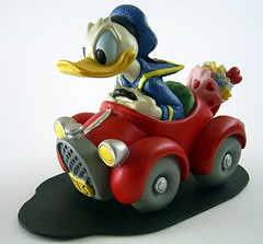"Donald driving his ""313"" (Toytone) Tags: donald duck 313"