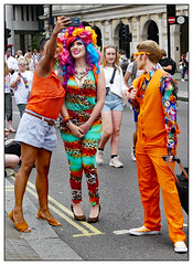 Standing out in a crowd (donbyatt) Tags: london trafalgarsquare londonpride2019 lgbt candid people parade event festival colour fashions
