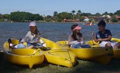Fun afloat  .  .  . (ericrstoner) Tags: children crianças boats barcos brasília distritofederal alohaspirit lagoparanoá caiaquecaiaker caiaque caiaker kayak lake lago water água lagosul