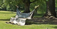 Fascinating bench in Kalheupinkpark in Oldenzaal (joeke pieters) Tags: 1480020 panasonicdmcfz150 oldenzaal salland overijssel nederland netherlands holland kalheupinkpark kunst art sculpture bank bench irislerütte iucundiactilabores nagedanearbeidishetgoedrusten twentsewallen