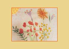 Life Begins in a Garden (Carol (vanhookc)) Tags: postcardart 6x4 flowers garden painting brushes watercoloring arteza deepdreamgenerator painterly digitalprocessing digitalediting freehand sketching watercolors