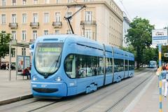 ZAG_2286_201506 (Tram Photos) Tags: tram strasenbahn tramvaj zagreb croatia tramway crotram tmk 2200 niederflur