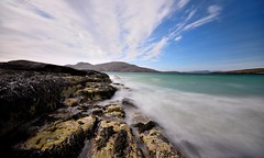 Tide coming in, Vatersay (Rudi Verspoor) Tags: beach beaches beautiful beauty sand water walking nikon d7200 sigma seascape seaside seafront seas scotland scenic scottish scenery sea sun sky blue rocks rock cycling travel touring wideangle wide hebrides hebrideanway hebridean vatersay coast coastal westcoast travelling visit
