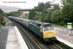 16/08/1982 - Gleneagles, Auchterarder, Scotland. (53A Models) Tags: britishrail brush type4 class47 47562 diesel passenger gleneagles auchterarder scotland train railway locomotive railroad
