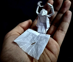 "ORIGAMI- ""An Origamist's Worst Nightmare"" (Neelesh K) Tags: origami artist nightmare frustration man square sheet boxpleating neelesh k"
