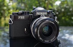 My favourite toy, Nikon FE2 with Nikkor 2.8/35mm (Hermann Neu aka Hanoi) Tags: nikon fe2 nikkor nikkor2835mm blackcameras analog analogue film