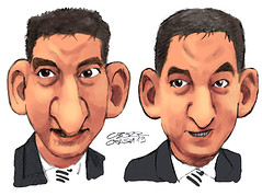 "Glenn ""Verdevaldo"" Greenwald (Cesar Crash) Tags: caricatura charicature charge politics intercept brazil brasil lavajato vazajato journalism jornalismo"