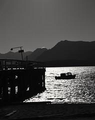 Limbo (peichvasquez79) Tags: blancoynegro blackandwhite nikon d3200 patagonia paisaje landscape barco lago