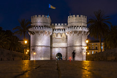 old city gate (Blende1.8) Tags: valencia citygate towngate oldcitygates historic historical bluehour blauestunde spain spanien old oldtown historiccity altstadt abend evening longexposure historicbuilding night nightscape sel24105g 24105mm sony alpha ilce7rm2 a7rii carstenheyer