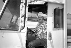 Monterey County, California (Dave Glass . foto) Tags: california montereycounty truckdriver 35mmfilm ricohgr10 kodaktmax400 filmphotography mosslandingcalifornia mosslandingca mosslanding