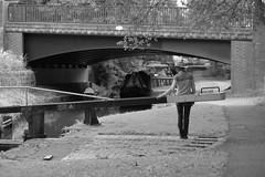 LockTime (Tony Tooth) Tags: nikon d600 nikkor 105mm lock canal lady woman figure narrowboat bridge stocktonbrook caldoncanal staffs staffordshire towpath bw blackandwhite monochrome