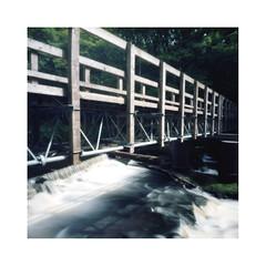River Footbridge (oldeyes47) Tags: kodak ektar100 c41 epsonv600 bellini southyorkshire riverdon lenslessphotography filmphotography mediumformat zeroimage withoutalens pinholecamera pinholephotography