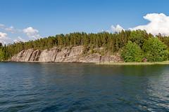 Midsummer Day in Finland (Ninara) Tags: lahti päijänne finland juhannus midsummer june summer cruise lake water evening night summernight ship boat rock